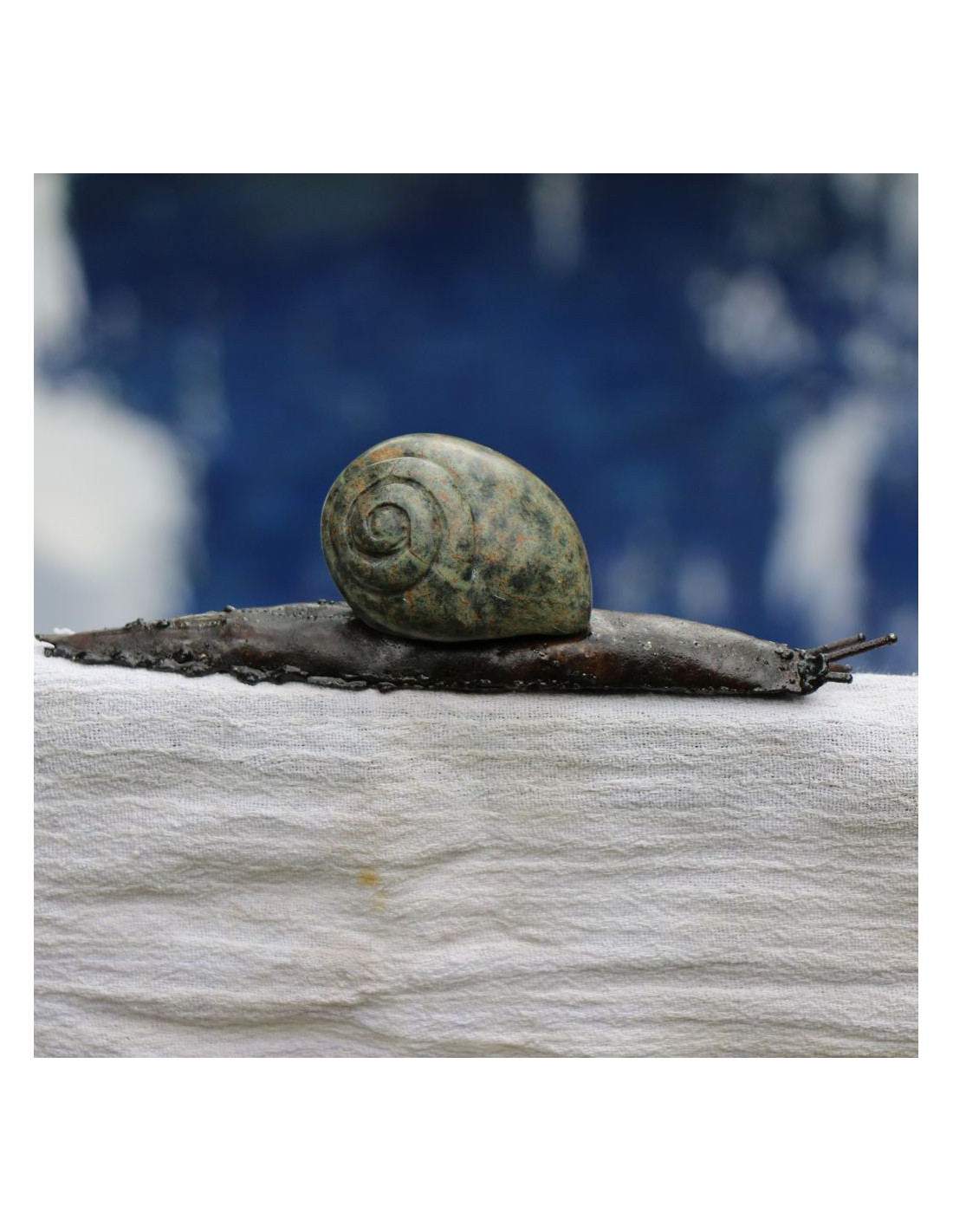 Escargot en serpentine et m tal recycl for Escargot decoration jardin