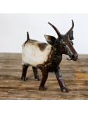 Chèvre en métal recyclé - décoration jardin