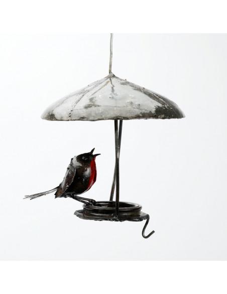 Suspension rouge-gorge avec toit-Mangeoire oiseaux à suspendre