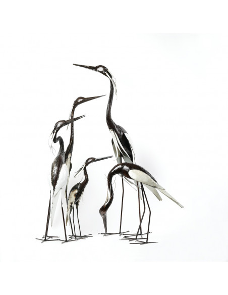 Héron blanc cou en S - 95 cm-Héron et grands oiseaux