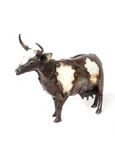 Vache en métal recyclé-Basse-cour et animaux de la ferme