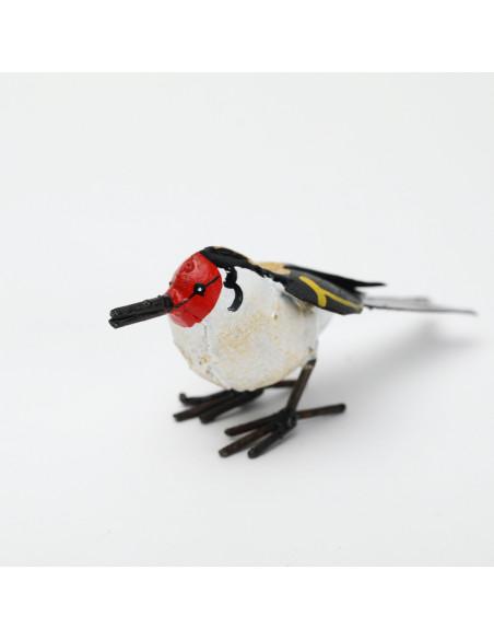 Chardonneret élégant en métal peint-Petits oiseaux