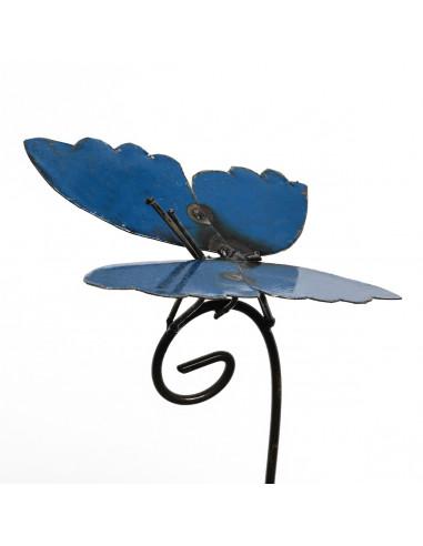 Tuteur Papillon bleu-Tuteurs insectes