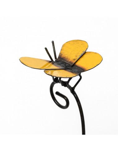 Tuteur petit Papillon jaune-Tuteurs insectes