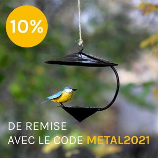 10% de remise sur notre boutique en ligne avec le code METAL2021 www.lesoizeauxdepassage.fr #codepromo #lesoizeaux #artaujardn #decojardin #pourlesoiseaux #lesoizeauxdepassage #idéedéco